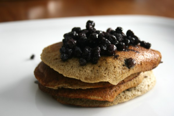 Chocolate Chip Banana Pancakes Closeup