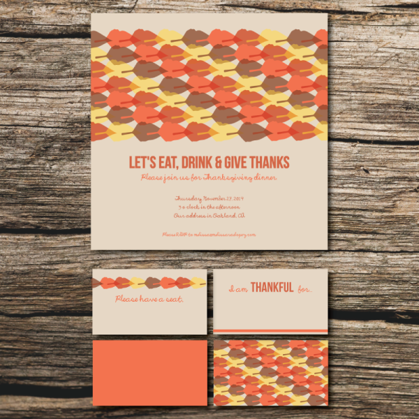 thanksgiving dinner invitation design